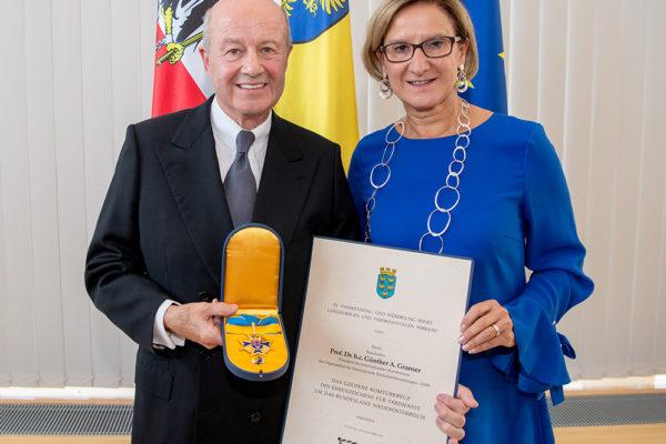 Auszeichnung Botschafter Günther Granser Land NOE Mikl-Leitner Veranstaltung SMRO Permant Mission