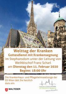 Welttag der Kranken Veranstaltung Erzdiözese Wien SMRO