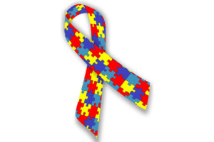 Welt Autismus Tag Webseite Symbol